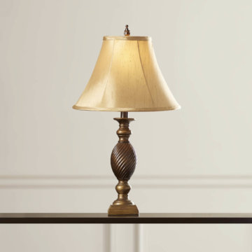 HSI Striated Gold/Bronze Table Lamp