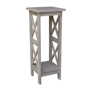 Whitewood Industries X-Side Plant Stand Gray