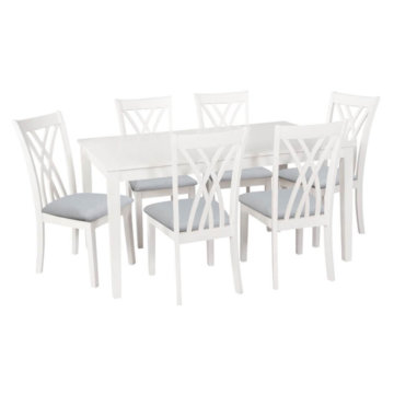Powell Maggie Seven piece dining set white