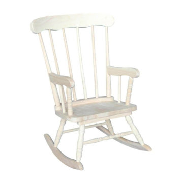 Whitewood Childs Boston Rocker Unfinished