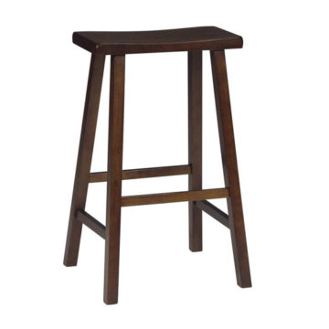 Set Of Two Black 29h Saddle Bar Stools Furnishings Warehouse