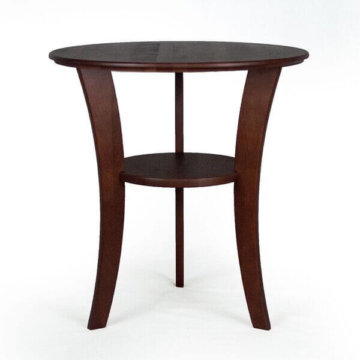 "22"" Round cherry end table"