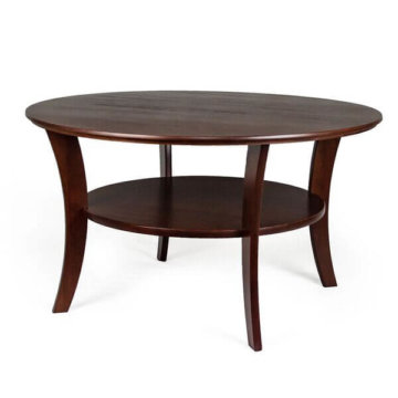 Round cherry coffee table, heritage