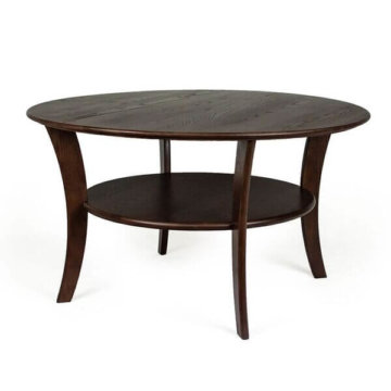 Round coffee table chestnut