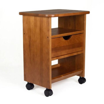 Single drawer cart, golden oak