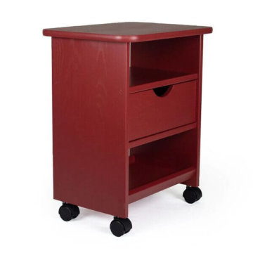 Single drawer cart, red