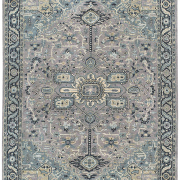 Capel Rugs Izmir Serapi Grey Blue Rug