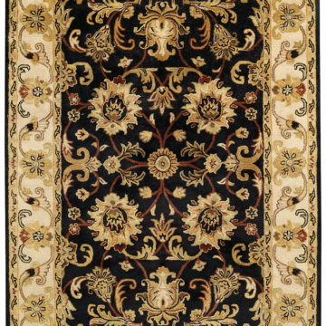 Capel Rugs Eloquent Garden Brilliant Black Area Rug