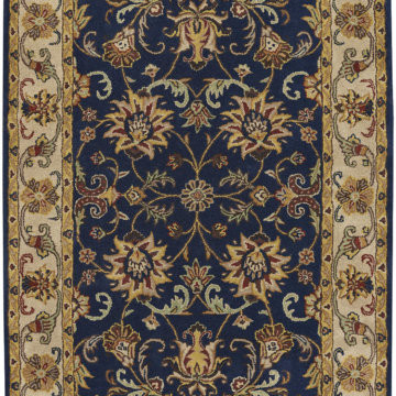Capel Rugs Eloquent Garden Navy Area Rug