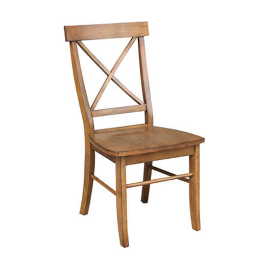 x back chair pecan