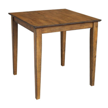 "30"" Square table pecan"