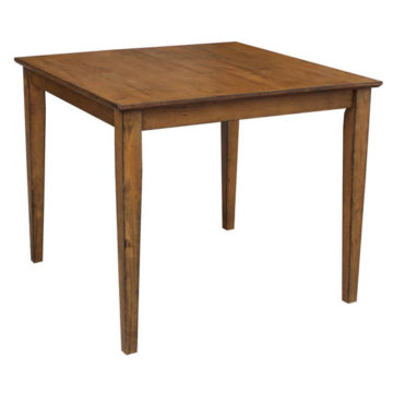 "36"" square table pecan"