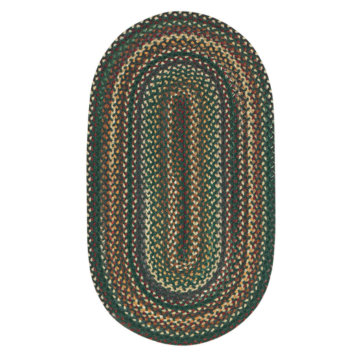 Capel Rugs Bear Creek Hunter Green Oval Rug
