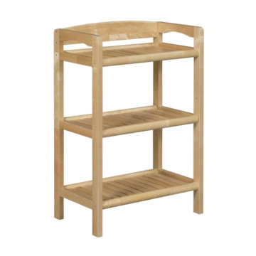 New Ridge Home Goods Blonde Three Tier Rack