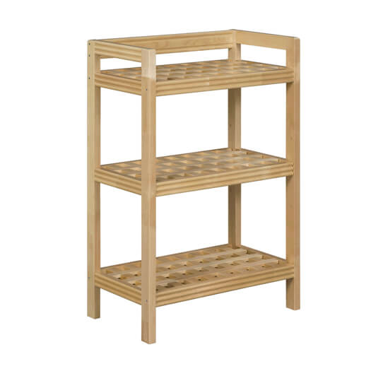 New Ridge Home Goods Blonde Three Tier Shelf