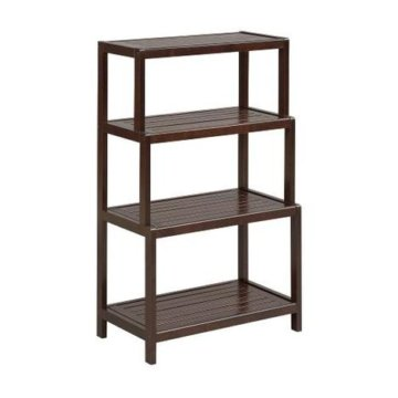 New Ridge Home Goods Merlot Four Tiered Shelf