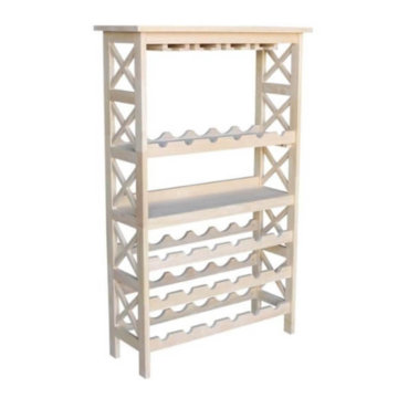 "Whitewood Industries Unfinished 48""H X Side Wine Rack"